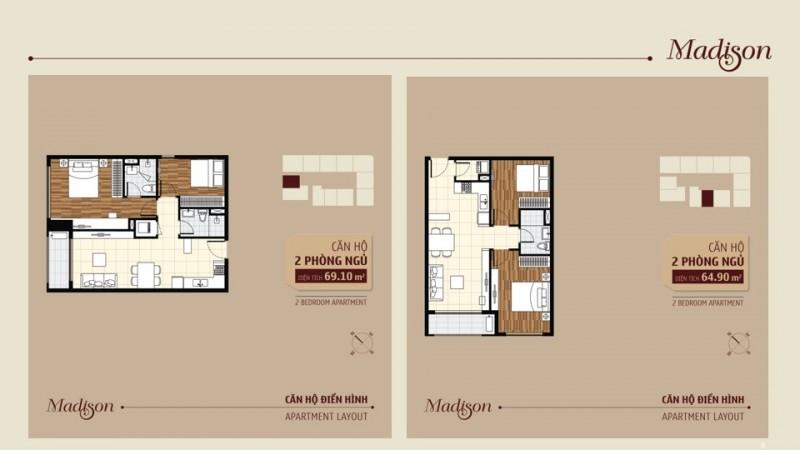 Cho thuê căn hộ chung cư Madison Novaland