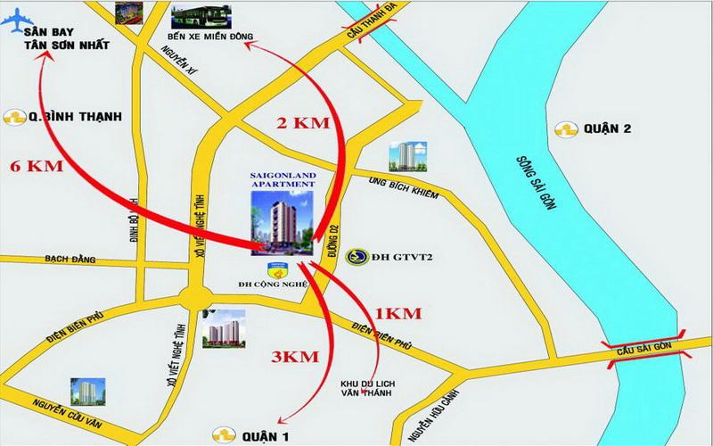 Cho thuê căn hộ chung cư Saigonland Apartment