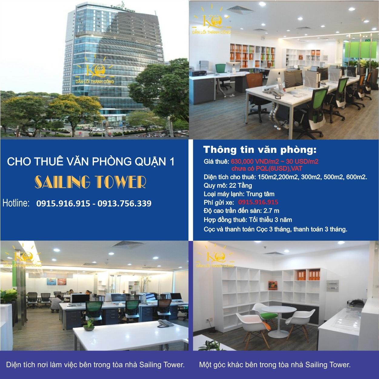 Cho thuê căn hộ chung cư Sailing Tower