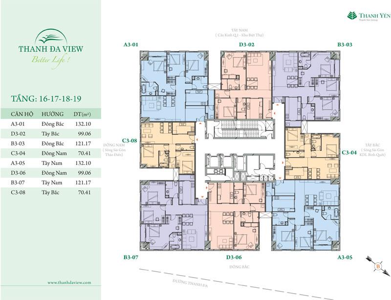 Cho thuê căn hộ chung cư Thanh Đa View