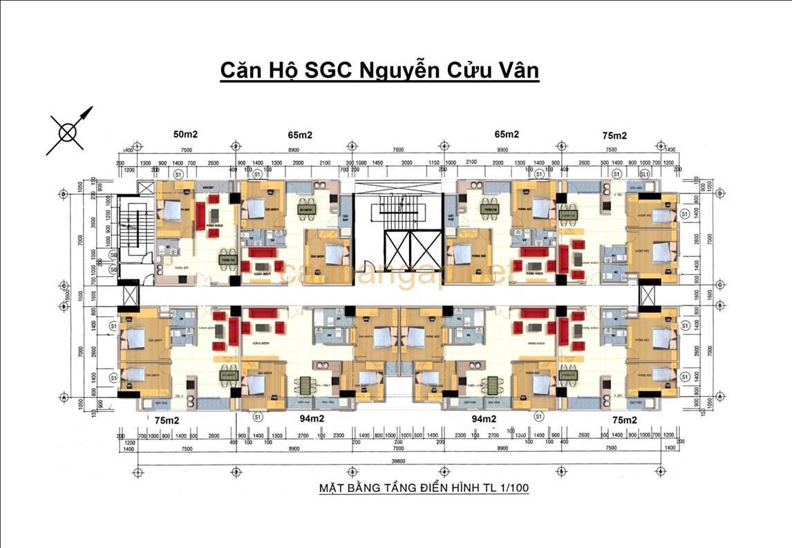 Cho thuê căn hộ chung cư SGC Nguyễn Cửu Vân