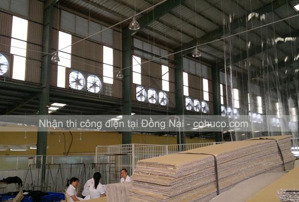 Nhà thầu thi công điện nhà xưởng tại Đồng Nai uy tín